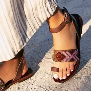 Free people Torrence Leather wrap Sandals